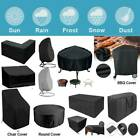 Black Waterproof Furniture Cover Home Garden Patio Heater Bbq Rattan Table Chair