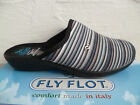 Fly Flot Ladies Slippers House Shoes Blue/Colorful New
