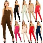 Women Bandeau Jumpsuit Exbranded Stretch Polyester Fabric Stylish Sleeveless Top