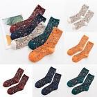 Women Vintage Ethnic Style Cotton Socks Printed Middle Tube Breathable Crew Sock