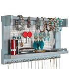 Wall Mounted Jewelry Organizer Earring Necklace Bracelet Holder Vintage Display