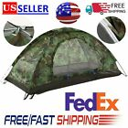 1/2/3/4/5 Person Camping Tent Waterproof Folding Camouflage Hiking Family Travel