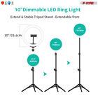 """8"""" 10"""" LED Ring Light with Tripod Stand Phone Holder for Makeup Tiktok Live Zoom"""