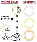 8' 10' LED Ring Light with Tripod Stand Phone Holder for Makeup Tiktok Live Zoom