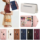 For Iphone 11 12 Pro Max 7 8+ Se Case Zipper Flip Leather Wallet Card Slot Cover