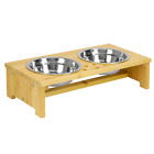 Pet Bowls Stand Food Water Bowls feeder Dogs Cats Pet table puppy dish tray
