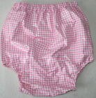 PVC Adult Baby Incontinence Diaper Rubber Trousers Pink Check