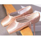 Girls Womens Ballet Pointe Shoes Satin Professional Dance Shoes Pink Ballet