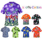 Men Hawaiian Shirts Stag Beach Party Holiday Casual Fancy Short Sleeve Shirt Top