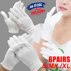 6 Pairs Handling Work Hands Protector Jewellery Cotton Soft Costume White Gloves
