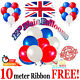 Red White Blue Mix Plain Balloons VE Day Street Party Patriotic Royal UK Flag