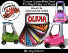 The Toy Restore Custom License Sticker Fits Step2 Easy Turn Coupe Ride-on Car
