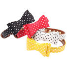 Necklace Leather Padded Wave Point Dog Collar Decorative Bow Tie Pet Supplies