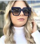 OVERSIZED Women Sunglasses Large Frame Sunnie Designer Fashion Flat Top Shadz