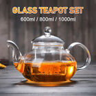 600-1000ml Glass Teapot Coffee Tea Pot With Stainless Steel Glass Filte D