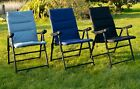 Folding Padded Deck Chair For Outdoor Garden Camping Heavy Duty Luxury Padding