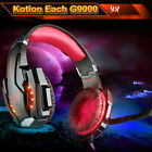 Gaming Headset Surround Stereo Headband Headphone USB LED Mic for PC Laptop Q2C2