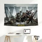 Call+Of+Duty+WorldWarII+Video+Game+Poster+High+Quality+Printed+Wall+Art+Tapestry