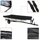 Black 210D For Jon Boat Cover 12ft-18ft L Beam Width up to 75inch