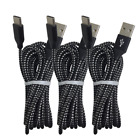 3Pack 10ft USB C Fast Charger Cable Type C Charging For Samsung S8 S9 S10 Note10