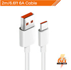 Original 6A Type C Xiaomi Cable Mi Charger Turbo Quick Fast Charging For Mi 10 U