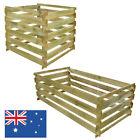 Slatted Compost Bin Wood Fertiliser Container Box Garden Waste Organic Compostin