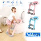 165 lbs Kids Potty Trainer Child Toddler Toilet Chair Seat w/ Step Stool K Q