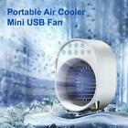 USB Portable Air Cooler Built-in LED Mood Light Quiet Lightweight