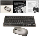 Wireless Keyboard and Mouse Set Silent Buttons for Home Office Laptop PC