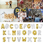"""16"""" 40""""Silver/Gold Letter A-Z Foil Balloon Wedding Birthday New Year Party Decor"""
