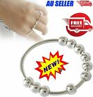 Rotatable Beaded Finger Ring For Anti-stress Anxiety Ring D