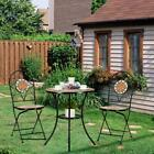 Garden Home Mosaic Furniture Set Bistro Table With Folding Chairs Dinning Sets