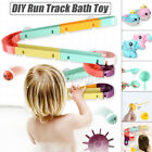 24/44pcs DIY Race Track Suction Cup Baby Kids Bath Toy Shower Playing Games Gif