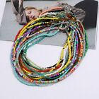 2021 Boho Candy Color Beads Necklace Clavicle Handmade Women Charm Jewelry Gifts