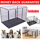 Strong Dog Puppy Cage Large Black Folding Crate Heavy Duty Puppy Play Pen Run UK