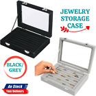1pc Jewelry Storage Case Tray Holder Display Earring Ring Ornaments Organize Box