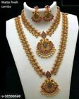 New South Indian Bollywood Traditional Gold Plated Wedding Bridal Jewellery Set