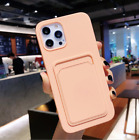 TPU Silicone Wallet Card Slot Holder Case Cover For iPhone 13 12 11 X 7 8