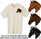 Embroidered THOROUGHBRED HORSE HEAD -12 color Tee Shirt