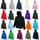 4 FRUIT OF THE LOOM HOODED TOP HOODIE ALL COLOURS/SIZES