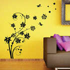 Large Butterfly Swirl Flower Wall Stickers / Wall Decal