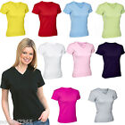 Ladies V Neck T Shirt Top Small Medium Large 8-18 New