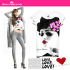 NEW HOT Stunning Lace Bow Fornarina Lady's T-shirt Top