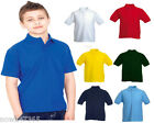 Kids Polo T Shirt Pique Age 2 - 13 School P.E / Uniform