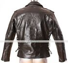 Live To Ride USA Emboss Men's Biker Real Leather Jacket