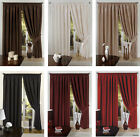 VENICE FAUX SILK CURTAINS WITH PENCIL PLEAT HEADERS