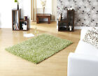Sparkle Lime Green Shiny Handwoven Shaggy Modern Small Large Rug 3 sizes Cheap