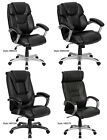 Office & Home Office Executive Black Leather Arm Chairs