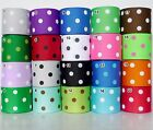 "2Yard 10Yard Mixed Colors Polka Dots Grosgrain Ribbon 38mm(1.5"") For Hair Bow"