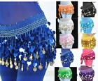 Brand New 88 Coin Belly dance Scarf Belt 11 Color #EB